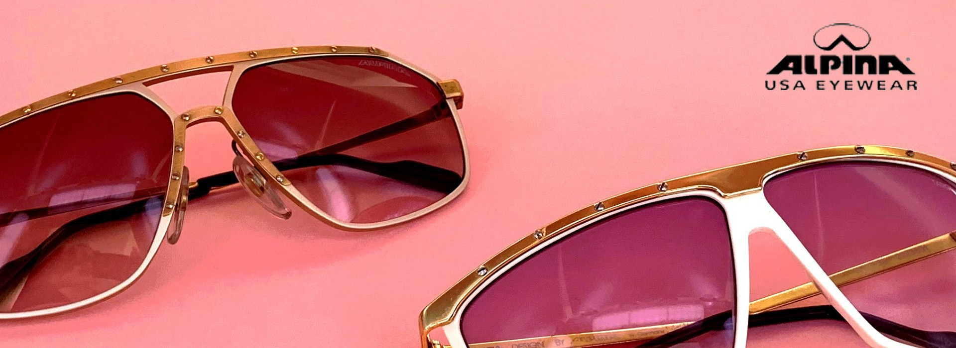 Alpina designer vintage sunglasses