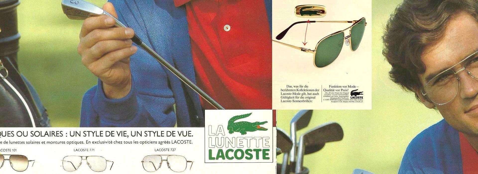 Lacoste designer vintage sunglasses