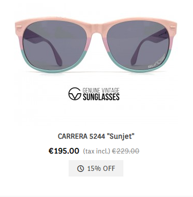 Carrera 5244 Sunjet