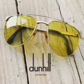 JUST ARRIVED VINTAGE ALFRED DUNHILL SUNGLASSES 🤩  GOLD & SILVER PLATED FRAME AVAILABLE WITH YELLOW KALICHROME OR LIGHT BLUE MIST CUSTOM LENSES 💎